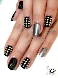 My grade teacher would love this design! Matte Nails, Diy Nails, Swag Nails, Acrylic Nails, Rock Nail Art, Rock Nails, Winter Nails, Spring Nails, Nail Pops