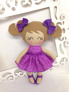 Handmade Doll Soft Doll Fabric Doll Cloth Doll by SewManyPretties, $40.00