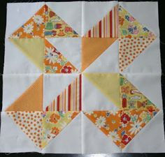 twin fibers: Dutch Pinwheel Quilt Block