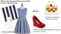 (via Make This Look: What's the Lineup? Dress in Cobalt. | The Sew Weekly - Sewing  Vintage Lifestyle)