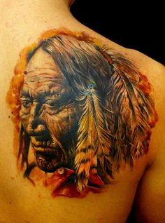 Realistic Indians Tattoo by Sergey Gas | Tattoo No. 7965