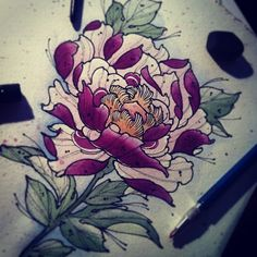 traditional style wicked tattoos flower tattoos tattoo flowers ...
