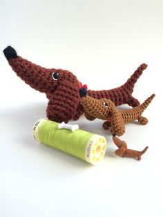 This is the PDF file for the pattern of the little dachshund Zoozia.