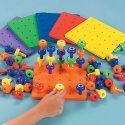 Learning should be fun! Peg Board Set.  [The Autism & ADHD Kids Web Shop] - Teacher, Preschool ,Educational, Math, Counting, Colors, Autism Occupational Therapy Toy