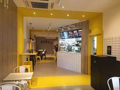 Restaurant Interior Design, Cafe Interior, Cafe Design, Store Design, Burger Restaurant, Small Cafe, Hard Earned, Instagram, Bipolar