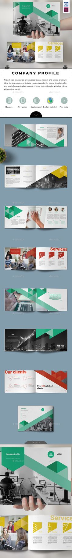 Multipurpose Landscape Brochure Brochure template, Brochures and - landscape brochure