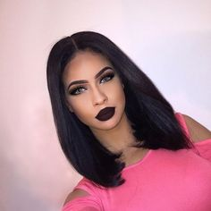 short bob straight wig Human hair lace front wigs - short bob straight wig Human hair lace front wigs Best Picture For diy projects For Your Taste Yo - Frontal Hairstyles, Wig Hairstyles, Lace Front Wigs, Lace Wigs, Lemy Beauty, One Piece Hair Extensions, Bob Cut Wigs, Tumbrl Girls, Chocolate Hair
