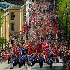The greatest celebration in Norway is just 3 weeks away folks! Our #nationalday #17may - best day of the year This is from the parade in #Oslo up #karljohansgate @visitoslo #osloweek #visitnorwayusa : Nancy Bundt/visitnorway.com