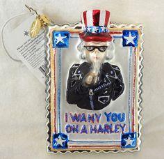 Christopher Radko Harley Davidson Christmas Ornament