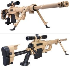 It is part of the sniper shooting system CheyTac LRRS. Produced by CheyTac LLC (USA). Uses special sniper cartridges of the Wildcat type: .408 CheyTac and .375 CheyTac. A distinctive feature of the system is the high accuracy of firing at long distances: less than 1 MOA over a distance of more than 2000 m