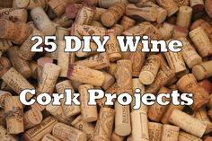 DIY wine cork projects. I have a ton of corks saved up that I need to do something with... I'll have to check these out.