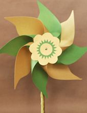 PAPER PINWHEELS. They're a breeze to make!