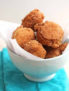 Classic Southern Fried Hush Puppies - you only need 3 ingredients to make this southern staple!