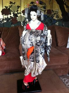 "Japanese vintage Oiran silk Geisha doll ""very rare"""