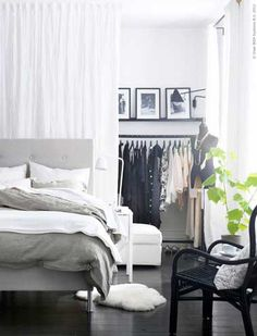 Use the curtain as a room divider - smart living ideas- Vorhang als Raumtrenner verwenden – kluge Wohnideen room divider ideas continue example curtain partition -