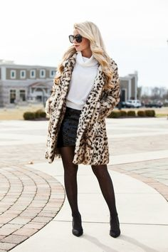 Add some fur and fun to your winter wardrobe this year with this amazing Faux fur leopard coat. This coat is AMAZING quality. It features 2 front pockets, a longer length, and an inside lining. You wi