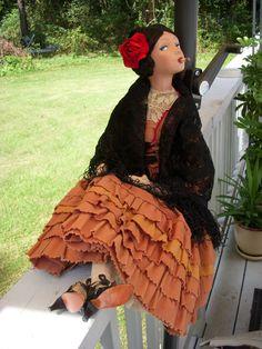 Antique French SMOKER Boudoir doll
