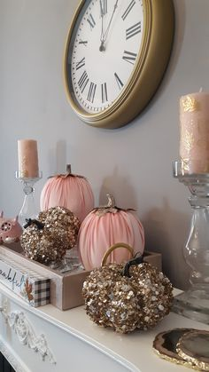 Fall Home Decor, Autumn Home, Holiday Decor, Harvest Decorations, Thanksgiving Decorations, Pink Halloween, Foam Pumpkins, Pumpkin Centerpieces, 65th Birthday