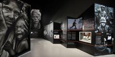 """A really emotive and well put together exhibition - """"Shaped by War: Photographs by Don McCullin"""" at Imperial War Museum North. Museum Exhibition Design, Exhibition Display, Exhibition Space, Design Museum, Interactive Exhibition, Exibition Design, Museum Displays, Photography Exhibition, Expositions"""