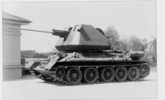T-34/85 with 57mm R10 AA autocannon