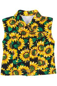ROMWE | Sunflowers Print Slim Vest, The Latest Street Fashion