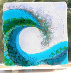 beautiful fused glass wave : woventime.com