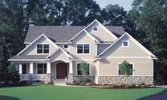 Best Light Tan Siding With Maroon Shutters Remodel Siding 400 x 300