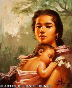 Madonna and Child, Simon Saulog. Seeing Through the Canvas of Simon Saulog : Philippine Art, Culture and Antiquities Filipino Art, Filipino Culture, New Artists, Great Artists, Madonna Images, Philippine Art, Thing 1, Soul Art, Madonna And Child