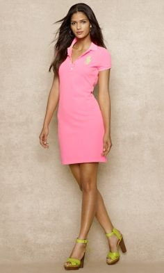 Ralph Lauren Pink Polo Dress Small Worn a couple of times - no real defects  other than very very slight natural fabric wear. Certainly not noticeable  when ...
