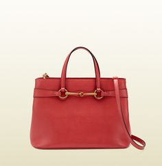 bright bit begonia pink leather top handle tote/ Gucci