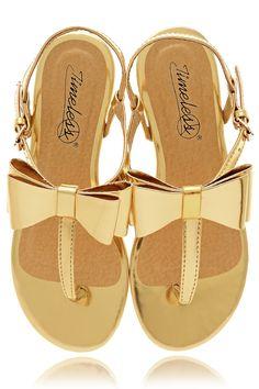 Sandales dorées  PRET-A-BEAUTE.COM