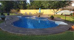 #stampedconcrete #decorativeconcrete #guniteswimmingpool #construction #remodel #replaster #retile #pooldeck #MikeFournierTulsa  SonriseGunitePools.com Can we build or remodel one for you?