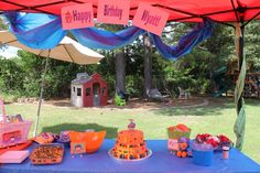 Team Umizoomi birthday party table decor