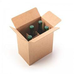 Caja para 6 cervezas con separadores