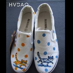 Buy 'HVBAO – 'Strolling Cats' Canvas Slip-Ons' at YesStyle.com plus more China items and get Free International Shipping on qualifying orders.