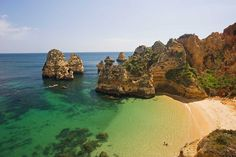 Praia Dona Ana no Algarve, Portugal The Places Youll Go, Great Places, Places To See, Most Beautiful Beaches, Beautiful Places, Lagos Algarve, Sea Activities, Best Snorkeling, Fantasy Island