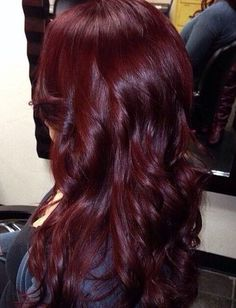 Auburn burgundy red. Gorgeous color! <3