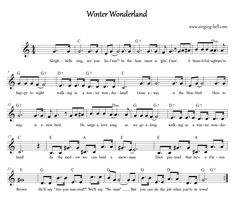 free sheet music for walking in a winter wonderland Popular Piano Sheet Music, Easy Piano Sheet Music, Violin Sheet Music, Free Sheet Music, Music Sheets, Free Christmas Music, Christmas Piano Sheet Music, Christmas Lyrics, Winter Wonderland Lyrics