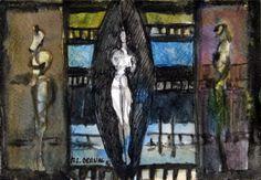 Mandorle - 12 x 18 cm, Aquarelle et encre de Chine sur papier