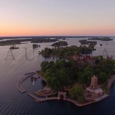 Wow! We flew over Boldt Castle yesterday, what a wedding!