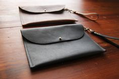 Hawks and Doves Meriwether Leather Clutch / iPad Mini case www.hawksanddoves.etsy.com