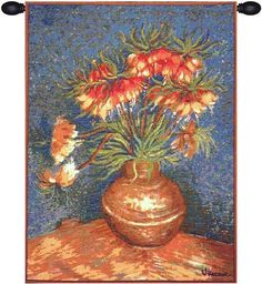 Van Gogh Lilies French Tapestry