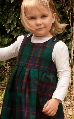 Girl's Pinafore Dress by Scotweb Tartan Mill in The Duncan Tartan