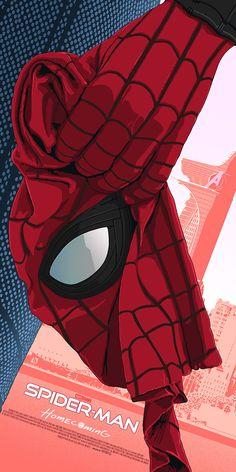 Spider-Man: Homecoming poster by - Universo Marvel Marvel Comics, Hero Marvel, Marvel Avengers, All Spiderman, Amazing Spiderman, Batman, Homecoming Posters, Spectacular Spider Man, Michael Keaton
