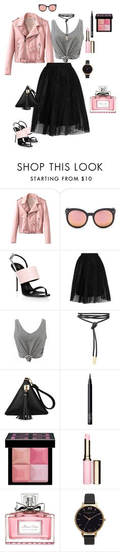 """Untitled #402"" by ulusia-1 ❤ liked on Polyvore featuring Spektre, Giuseppe Zanotti, Topshop, NARS Cosmetics, Givenchy, Clarins, Christian Dior and Olivia Burton"