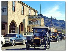 Oatman is a fun place to visit -- an authentic old western town with burros roaming the streets and gunfights staged on weekends. The burros are tame and can be hand fed. When my wife and I visited in January of this year, I was surprised to see five old Model T Fords out for a Sunday drive down the main street of Oatman. The cars fit right in with the romantic image of this old town, taking us back to 1915 era old west.