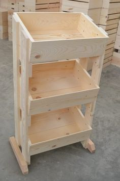 3 Tier Pine Display | Wooden Store Fixture | Retail Fixtures