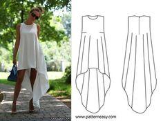 платье трапеция с длинным рукавом выкройка - Поиск в Google