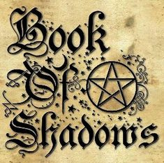 Creating A Book Of Shadows