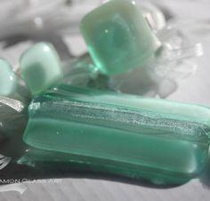 Almazöld üvegékszer, Blanche üvegékszer Glass Jewelry, Jewelry Sets